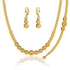 Lovely Ball Set Stamp 18K Gold Plated/Platinum Plated Party Necklace &Bracelet &Earrings For Women NB60076