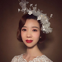 Women's Imitation Pearl / Flax Headpiece - Wedding / Special Occasion Flowers 1 Piece