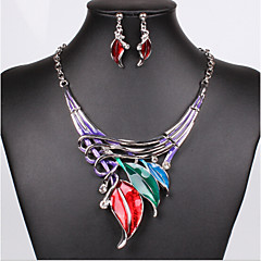 MISSING U Women Vintage / Party Silver Plated / Alloy / Rhinestone Necklace / Earrings Jewelry Sets