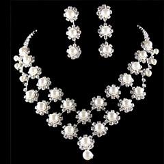 Smykker Set Dame Jubileum / Bryllup / Engasjement / Bursdag / Gave / Fest / Spesiell Leilighet Juvel Sett Legering Imitert Perle