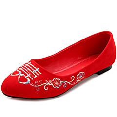 Women's Wedding Shoes Ballerina / Round Toe / Closed Toe Flats Wedding Red