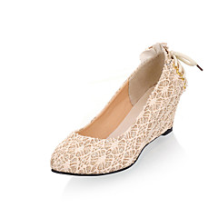 Women's Shoes Customized Materials Wedge Heel Wedges Flats Wedding / Party & Evening / Dress / Casual Black