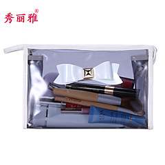 Cosmetic Bag PVC 1pcs Ellipse 23*7*13CM Normal Grey / Red / Purple / Rose