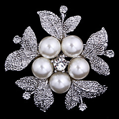 Women's Flower Brooch for Wedding Party Decoration Scarf ,Fine Jewelry,Random Color