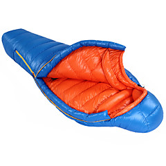 HIGHROCK Blue/Red Adult Outdoor Winter Camping  Ultralight 0C to -25C 1200g 90/10 Duck Down Sleeping Bag
