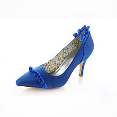 Women's Shoes Stretch Satin Spring / Summer / Fall Heels / Pointed Toe Wedding / Dress / Party & Evening Stiletto Heel Ribbon TieRoyal