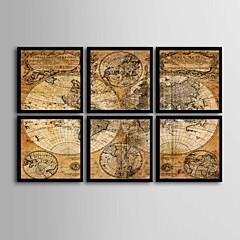 Absztrakt Bekeretezett vászon / Bekeretezett szett Wall Art,PVC Fekete Háttéranyag nélkül a Frame Wall Art