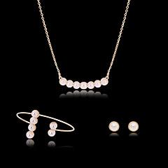 Roztomilý / Party-Žena-Náhrdelník / Náušnice / Náramek(Pozlacené růžově / Slitina / Drahý kámen / Imitace perly)