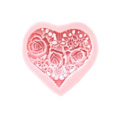 3D-Herz-Blumen-Silikon-Form-Fondant-Zucker-Formen Bastelwerkzeuge Schokoladen-Form für Kuchen