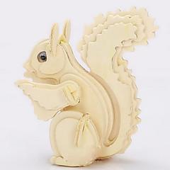 פאזלים פאזלים3D / פאזלים מעץ אבני בניין צעצועי DIY סנאי עץ זהב צעצוע בניה ודגם