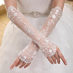 Elbow Length Fingerless Glove Elastic Satin Bridal Gloves Party/ Evening Gloves Spring Summer Fall Winter lace