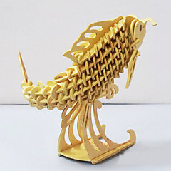 Puzzle 3D puzzle Dřevěné puzzle Stavební bloky DIY hračky Ryby Dřevo