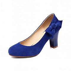 Women's Shoes Leatherette Chunky Heel Heels Heels Wedding / Office & Career / Party & Evening Black / Blue