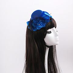 Women's / Flower Girl's Satin / Feather / Flannelette Headpiece-Wedding / Special Occasion Fascinators 1 Piece
