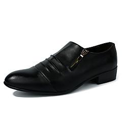 옥스퍼드 남자 신발 웨딩 / 사무실 & 커리어 / 캐쥬얼 / 파티/이브닝 레더렛 / 에나멜 가죽 블랙