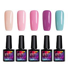 modelones 5st makeup gelpolish suga bort gel polish nail art uv LED-lampa långvarig gel C105