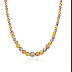 Luxury Three Color 18K Gold/Rose Gold/Silver Plated Scrub Necklace Men/Women High Quality Jewelry N50138