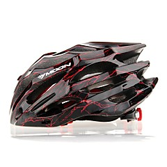 MOON Cycling Black And Red PC/EPS 27 Vents Light Cycling Helmet