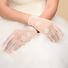 Wrist Length Fingertips Glove Nylon Bridal Gloves Party/ Evening Gloves Spring Fall Winter Bow