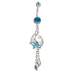 ボディジュエリーピアスボディ宝石類を踊る女性のステンレス鋼ジルコンへそへそリング