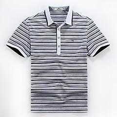 zeven Brand® Heren Overhemdkraag Korte mouw T-shirt Donker Grijs-E99T540283
