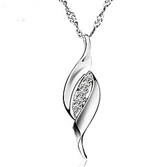 Romantic Crystal Weeding Jewelry Real Silver Short Link Chain Rhinestone Pendants Statement Necklace Women