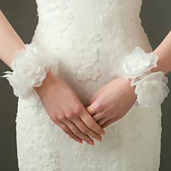 Wrist Length Fingerless Glove Nylon / Elastic Satin Bridal Gloves / Party/ Evening Gloves