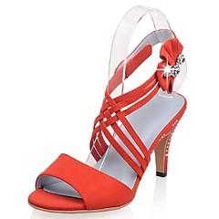 Sandály-Kašmír-Podpatky / S otevřenou špičkou / Kotníkový pásek-Dámská obuv-Modrá / Růžová / Oranžová-Svatba / Šaty / Party-Vysoký