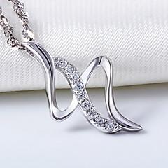 Zilver / Bergkristal Heren / Stelletjes / Dames KettingenJublieum / Bruiloft / Verloving / Verjaardag / Geschenk / Feest / Dagelijks /