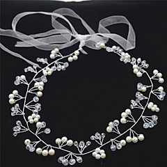 Women's Crystal / Imitation Pearl Headpiece-Wedding / Special Occasion Headbands 1 Piece