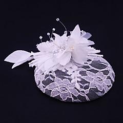 נשים תחרה ריינסטון פשתן בד כיסוי ראש-חתונה אירוע מיוחד קז'ואל חוץ קישוטי שיער חלק 1
