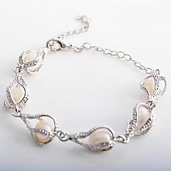 lureme®women vanndråpeformede perle armbånd smykker