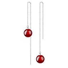עגילי טיפה שוהם דמוי פנינה שחור אדום תכשיטים ל חתונה Party יומי קזו'אל 1 זוג
