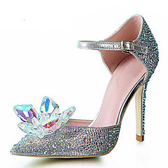 womens shoes syntheticglitter stiletto heel heelspointed toe pumpsheels wedding