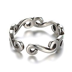 Obrączki mankiet Pierścień Postarzane Srebro standardowe Silver Biżuteria Na Codzienny Casual 1szt
