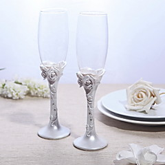 Lead-free Glass Toasting Flutes 2 Non-personalised Gift Box