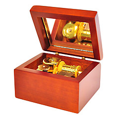 bois brun créatif boîte de musique romantique pour le cadeau