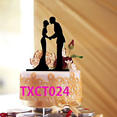 Decorações de Bolo Não-personalizado Casal Clássico Acrilíco Casamento Vermelho / Preto Tema Clássico 1 PPO