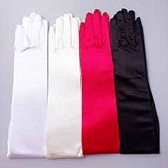 Opera Length Fingertips Glove Satin Elastic Satin Bridal Gloves Party/ Evening Gloves Spring Summer Fall Winter