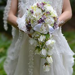 פרחי חתונה בצורה חופשיה / אשד ורדים זרים חתונה / חתונה/ אירוע סאטן / משי / אורגנזה