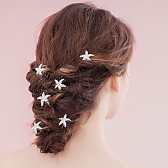 6 Pieces Women's Seafish Pearl Headpiece-Wedding / Special Occasion Hair Pin / Hair Stick (set of 6)