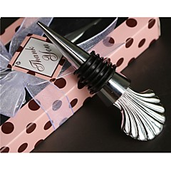 Beach Party Chrome seashell Bottle Stopper Wedding Favors WJ037/D