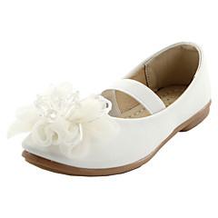 בנות שטוחות נוחות דמוי עור אביב סתיו חתונה קזו'אל שמלה מסיבה וערב נוחות פרח עקב שטוח לבן ורוד שטוח