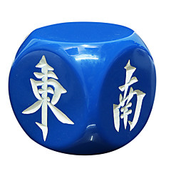 materiais de resina san reais, proteção ambiental e vento mahjong durável de direção 30 mm dados correspondem regulares branco