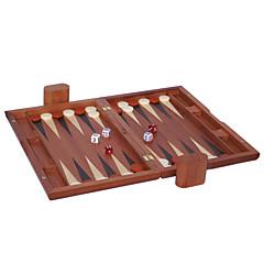 """המלוכה רח למכור 15 """"משחק שש-בש שחמט בקרה עץ קוביות אקריליק זברה משטח + לוח שחמט עץ (28 * 10 מ""""מ)"""