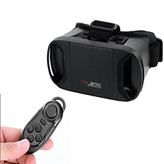 "VR 3D BOX Virtual Reality 3D Glasses + Bluetooth Controller - Black For 3.3~6"" Phones - Black"