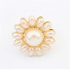 טבעות לנשים / לגברים / לזוגות / יוניסקס חיקוי פנינה סגסוגת סגסוגת מתכוונן זהב