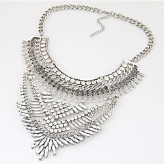 Women's Collar Necklace Statement Necklaces Gemstone Fashion Vintage Statement Jewelry Luxury Jewelry Silver Golden JewelryParty Daily
