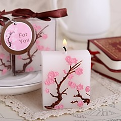 Asiatisk Tema / Klassisk Tema / Eventyr Tema / Baby Shower Candle Favors-1 Piece / Set Stearinlys Ikke-personaliseret Hvid