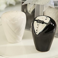 Recipient Gifts Wedding Dress and Tuxedo Salt and Pepper Shakers Wedding Favors